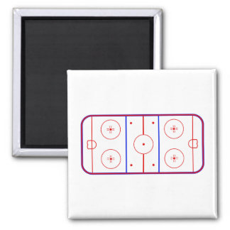 Hockey Rink 2 Inch Square Magnet
