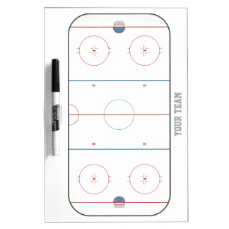 Hockey Rink Detailed Medium Dry Erase Board