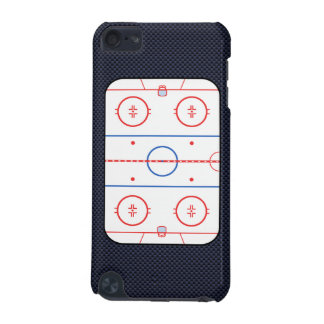 Hockey Rink Diagram on Blue Carbon Fiber Style iPod Touch 5G Case