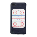 Hockey Rink Diagram on Blue Carbon Fiber Style iPod Touch (5th Generation) Cover