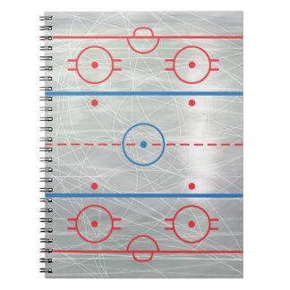 Hockey Rink Ice Notebook