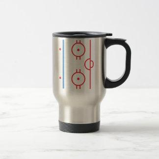 Hockey Rink Steel Travel Mug Wrap