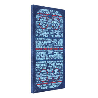 Hockey Rink Typography Canvas Print