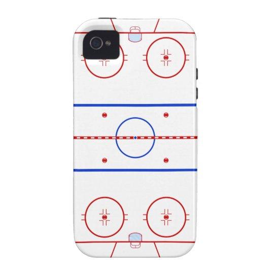 Hockey Rink Vibe iPhone 4 Case