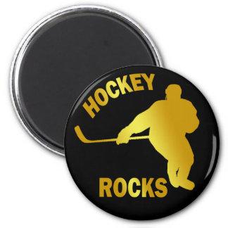HOCKEY ROCKS MAGNET