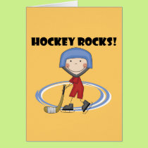 Hockey Rocks T-shirts and Gifts Card