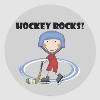 Hockey Rocks T-shirts and Gifts Classic Round Sticker