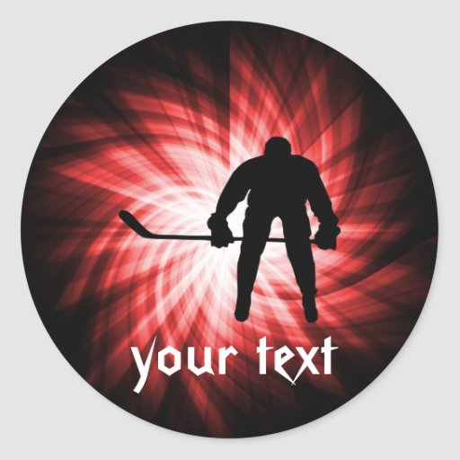 Hockey rojo etiquetas