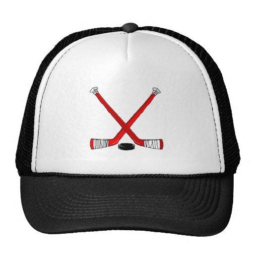Hockey rojo gorra