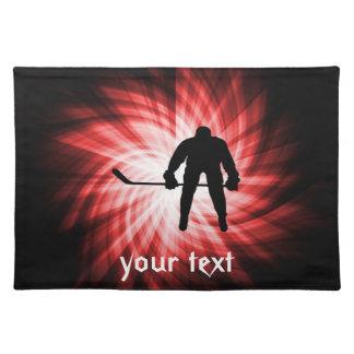 Hockey rojo manteles individuales