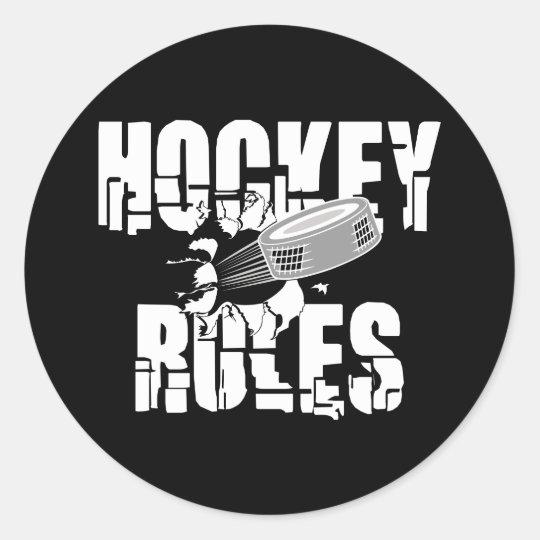 Hockey Rules Classic Round Sticker
