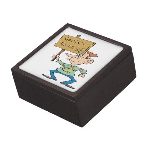 Hockey Rules Premium Jewelry Boxes
