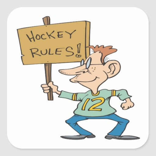 Hockey Rules Square Sticker