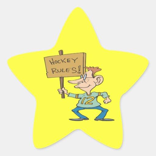 Hockey Rules Star Stickers
