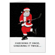 Hockey Santa Card