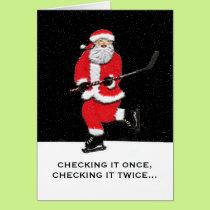 Hockey Santa Card