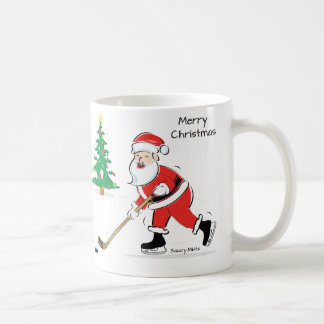 Hockey Santa Christmas Coffee Mug
