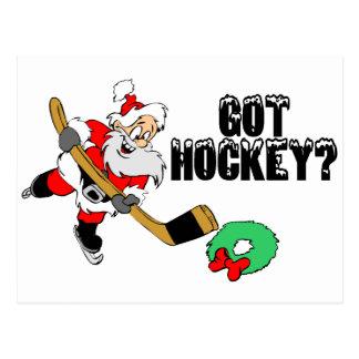 Hockey Santa Postales
