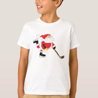 Hockey Santa Skating Christmas Youth T-Shirt