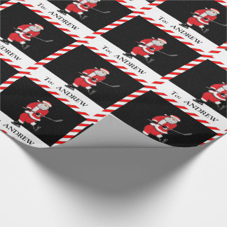 Hockey Santa Wrapping Paper