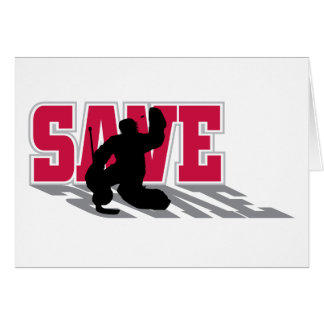 Hockey Save! Card
