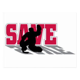 Hockey Save! Postcard