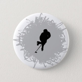 Hockey Scribble Style Pinback Button
