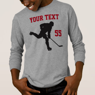 Hockey Shirt with Angry Hockey Puck and YOUR TEXT