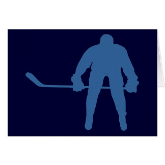 Hockey Silhouette Note Cards