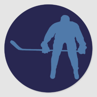 Hockey Silhouette Stickers Sticker