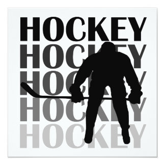 Hockey Silhouette T-shirts and Gifts Card