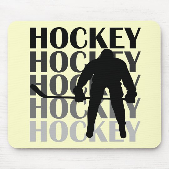 Hockey Silhouette T-shirts and Gifts Mouse Pad