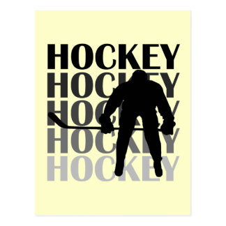 Hockey Silhouette T-shirts and Gifts Post Cards