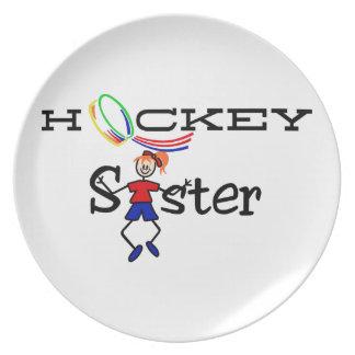 Hockey Sister Dinner Plate