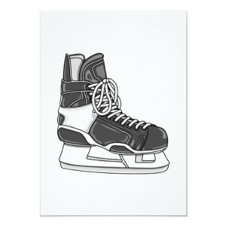 Hockey Skate 5x7 Paper Invitation Card
