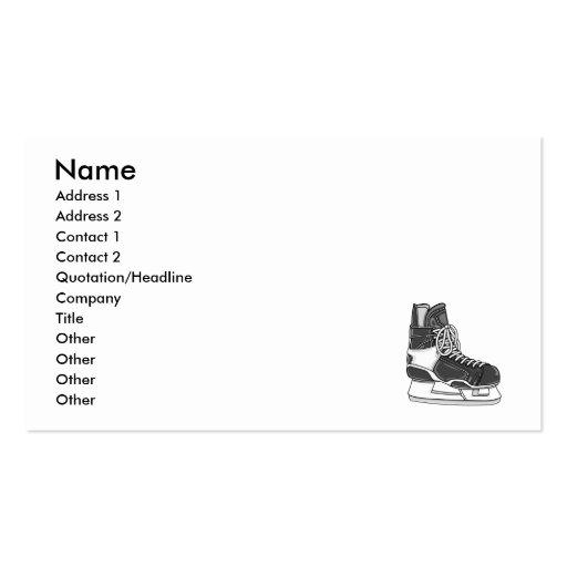 Hockey Skate Business Card Template