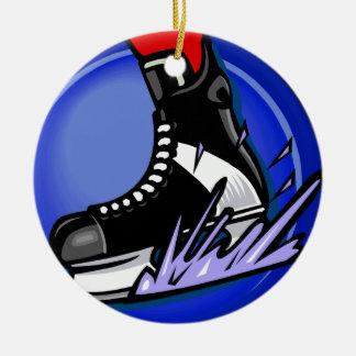 Hockey Skate Ceramic Ornament