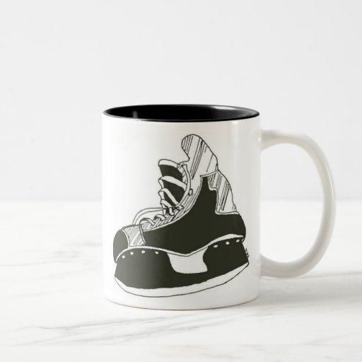 hockey skate coffee mugs