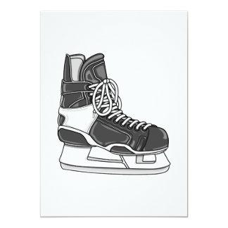 Hockey Skate Custom Invitation