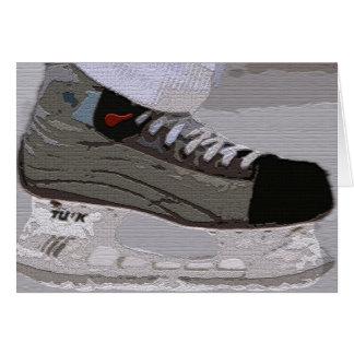 Hockey Skate Notecards Card