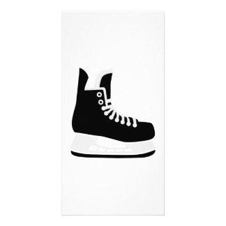 Hockey skate photo card