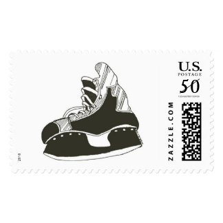 Hockey Skate Postage Stamp