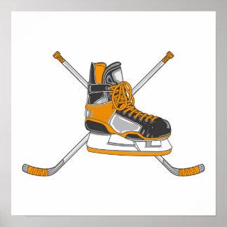 Hockey Skate Poster