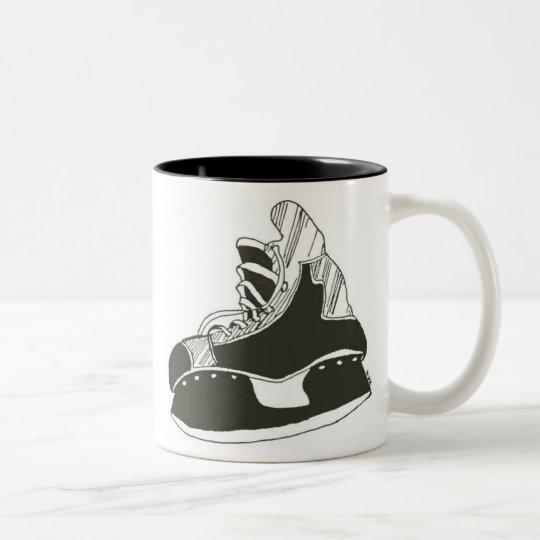 hockey skate Two-Tone coffee mug