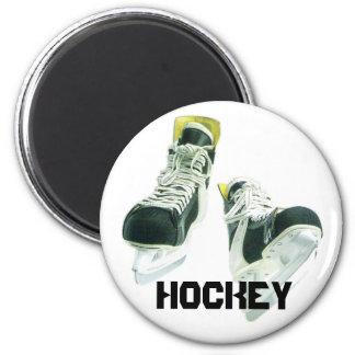 Hockey Skates 2 Inch Round Magnet