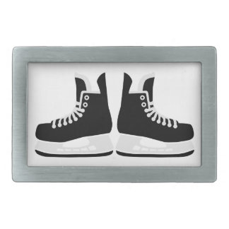 Hockey skates rectangular belt buckles