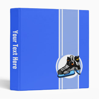 Hockey Skates; Blue Binder