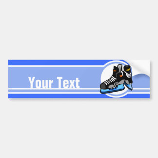 Hockey Skates; Blue Bumper Sticker