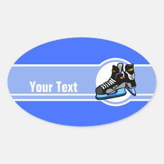 Hockey Skates; Blue Oval Sticker
