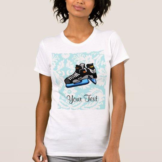 Hockey Skates; Damask T-Shirt